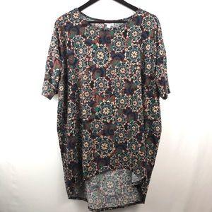 LuLaRoe Irma paisley hi-lo top blouse long oversz